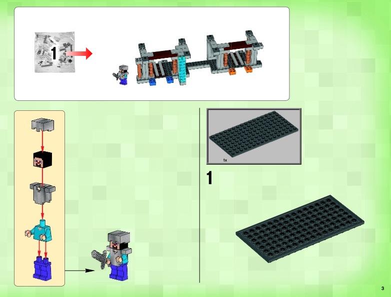инструкция к лего майнкрафт - фото 7