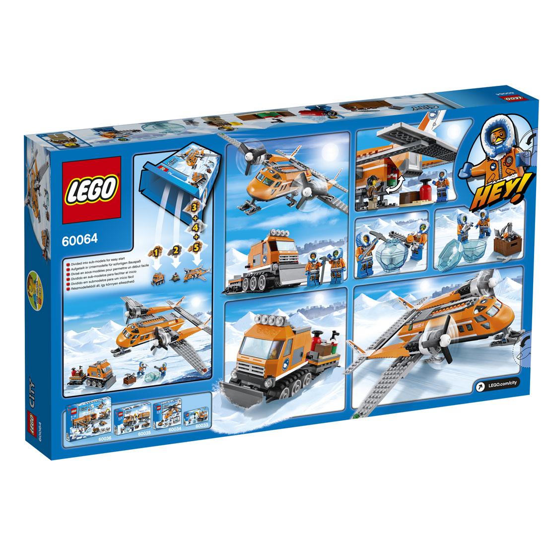 Лего Сити 60064 Арктический транспортный самолет ... Лего Сити Инструкции