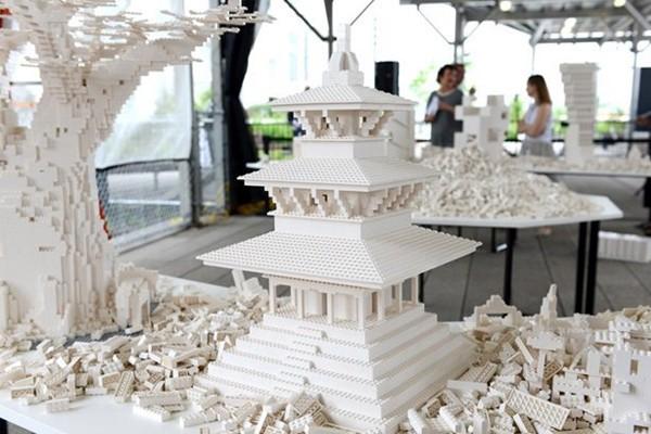 Архитектурная выставка из лего