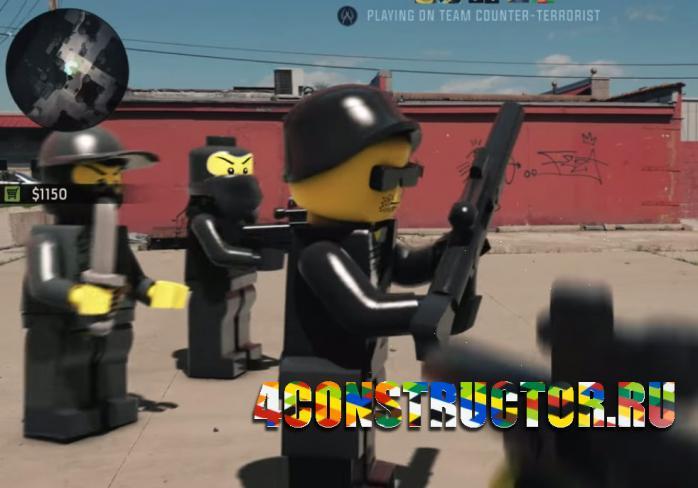Знаменитые игры воссозданы в Lego