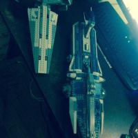 lego star wars ! корабль дарта мола и уничтожитель