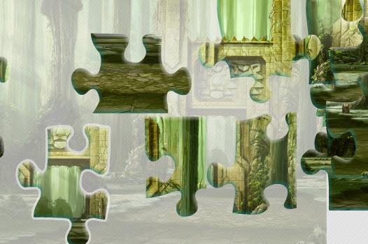 Зеленый паззл
