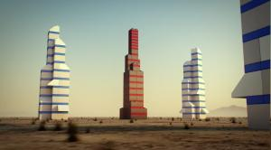 4 башни лего
