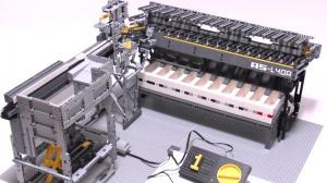 Машина для сортировки лего, вид спереди