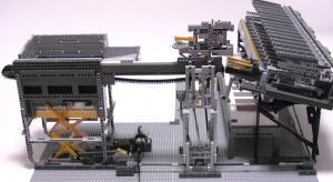 машина для сортировки лего, вид сбоку