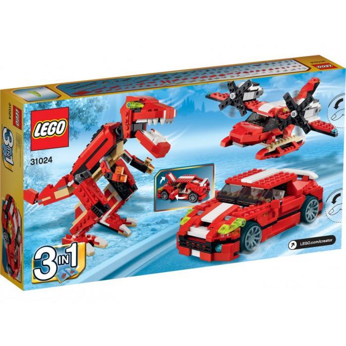 Красный мощный автомобиль (3 в 1)