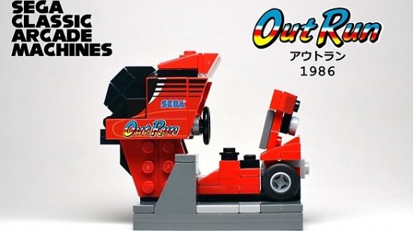 Аркадные машины SEGA из Lego