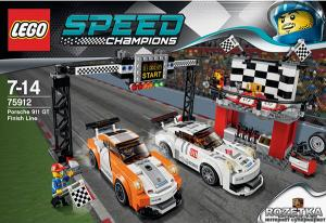 Финишная линия гонки Porsche 911 GT