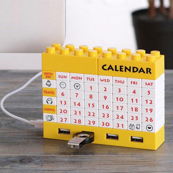 Конструктор-календарь + USB хаб