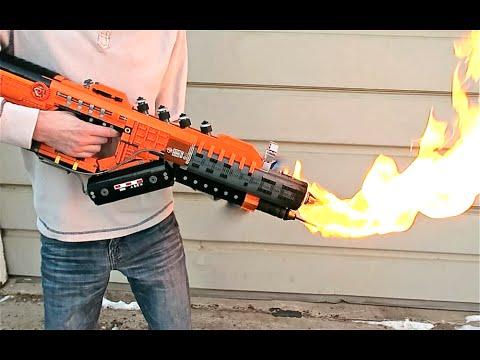 Огнемёт из Лего