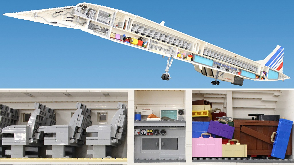 Самолёт Конкорд из Лего